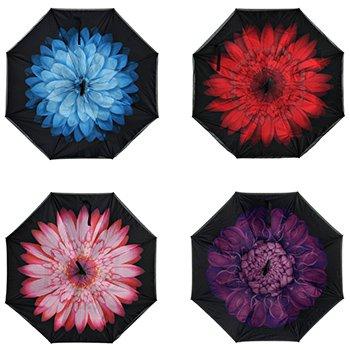 Обратный ветрозащитный зонт Up-brella цветок оптом